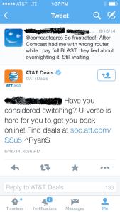Twitter Comcast